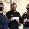 Left to right Pat Moran, Mitch Josephs, and Randy Hansen being presented the check from our Poppy Drive.